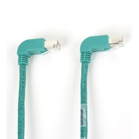 SpaceGAIN CAT6 250-MHz Ethernet Patch Cable – Molded Angled Boots, Shielded (STP)